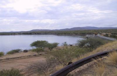 The Von Bach Dam vars vatten används för infiltration i brunnar