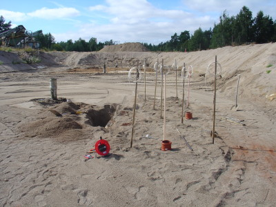 Installation av mätutrustning, Hyndevad, Eskilstuna